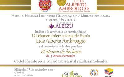 1 Certamen Internacional de Poesía Luis Alberto Ambroggio