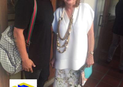 Artista Juan Carlos Cepeda y la Cónsul en Miami Martha Jaramillo