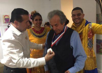 El Museo hace entrega de reconocimiento al Caricaturista Jorge Grosso,por su trabajo en el Exterior