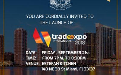 Celebra las novedades del Trade Expo Internacional el 21 de septiembre a las 7PM en Estefan Kitchen