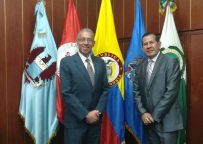 En compañía del Consejero del Atlántico Carlos Arturo Mercado.