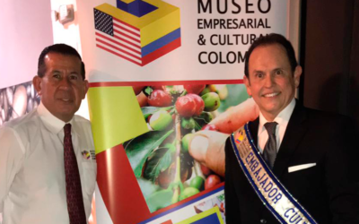 Posesión de nuestro Embajador Cultural,en compañía de directivos del Museo y Autoridades Internacionales.