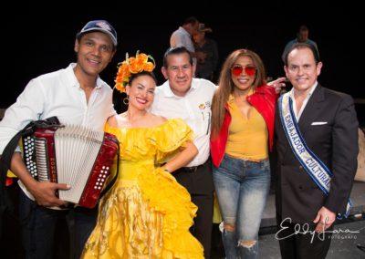 Reconocimiento a Rosmy Camargo.Keidy Amaya.Ailyn Rodríguez,Juan David Payares y Jorge Linares en el Festival Vallenato en Miami.