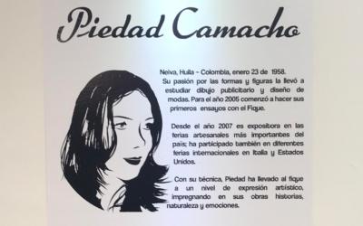 OBRAS DE LA ARTISTA PIEDAD CAMACHO