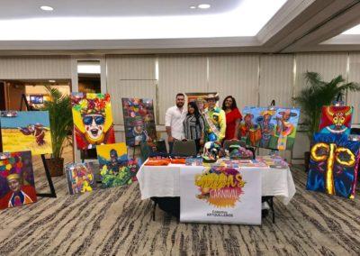 El Museo Empresarial y Cultural Colombia,apoyando al Grupo colectivo Artkilleros durante su gira por Miami.