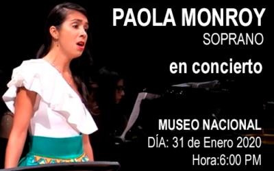 Invitación de Paola Monrroy para el concierto en el MUSEO NACIONAL BOGOTÁ